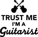 Trust me I`m a guitarist Stock Images