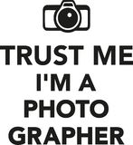 Trust me I`m a photographer Royalty Free Stock Images