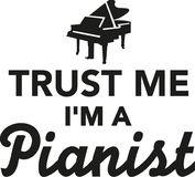 Trust me I`m a pianist Royalty Free Stock Image