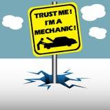 Trust me I am mechanic Stock Photography