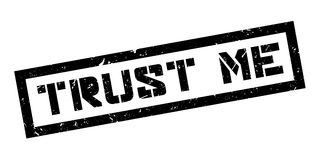 Trust Me rubber stamp Royalty Free Stock Images