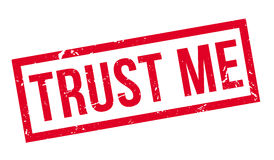 Trust Me rubber stamp Stock Photography