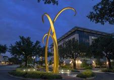 `Trust` by Michell O`Michael in Preston Plaza, Dallas, Texas. Pictured is a monumental sculpture entitled `Trust` by artist Michell O`Michael. It was installed stock photo