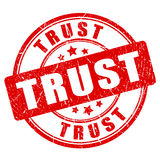 Trust rubber vector stamp Royalty Free Stock Photography