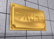 Trust sign Stock Image