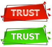 Trust sign stock illustration