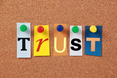 Trust Single Word Stock Images