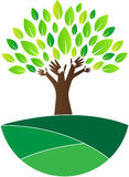 Trust tree. A vector drawing represents trust tree design Stock Photo