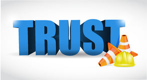 Trust under construction illustration design Stock Photo