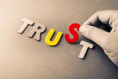 Trust Us Stock Photo