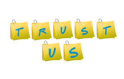 Trust us message illustration design Stock Photo