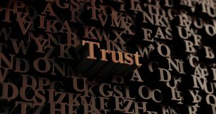 Trust - Wooden 3D rendered letters/message Stock Photos