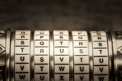 Trust word as password in combination puzzle Stock Images