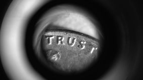 Trust. A word that is barely used anymore Stock Photos