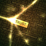 TRUST. Word cloud illustration. Tag cloud concept collage stock illustration