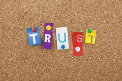 Trust Word Concept Royalty Free Stock Photos