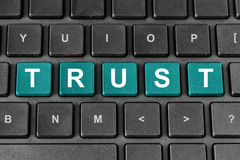 Trust word on keyboard Royalty Free Stock Photography