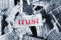 Trust word Stock Image