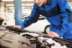 Trust your car to the experts. Stock Photo