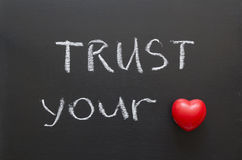 Trust your heart Stock Photography