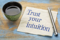 Trust your intuition - napkin concept Stock Photography
