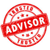 Trusted advisor business rubber stamp Royalty Free Stock Image