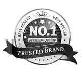 Trusted Brand. Best seller, Premium Quality - shiny icon / label / badge. Stock Images