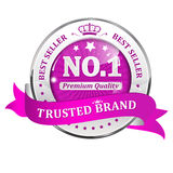 Trusted Brand. Best seller, Premium Quality - shiny icon / label / badge. Royalty Free Stock Image
