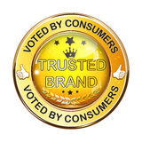 Trusted Brand. Best seller - shiny icon / label / badge. Stock Photos