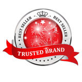 Trusted Brand. Best seller - shiny icon / label / badge. Stock Images