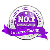 Trusted Brand. Best seller - shiny icon / label / badge. Trusted Brand. Best seller - icon / label / badge Royalty Free Stock Photography
