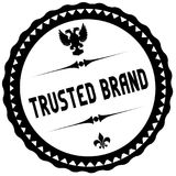 TRUSTED BRAND black stamp. Illustration graphic concept image Royalty Free Stock Photography