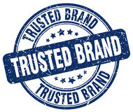 trusted brand blue grunge round vintage stamp Royalty Free Stock Photo