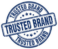 Trusted brand blue grunge round vintage stamp Stock Photography
