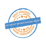 Trusted Brand, consumer`s choice Royalty Free Stock Image