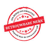 Trusted Brand, consumer`s choice as a proof of best quality dutch stamp Royalty Free Stock Photo