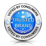 Trusted Brand  icon / sticker Royalty Free Stock Photography