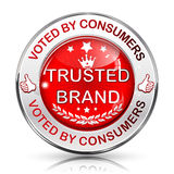 Trusted Brand  icon / sticker Royalty Free Stock Image