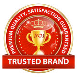 Trusted brand, Premium quality, because we care Royalty Free Stock Image