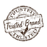 Trusted brand rubber stamp royalty free illustration