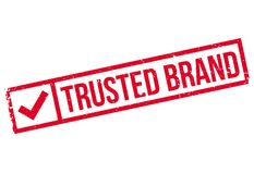 Trusted brand stamp Stock Photos
