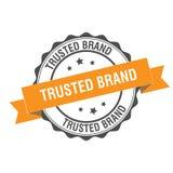 Trusted brand stamp illustration. Trusted brand stamp seal illustration design Royalty Free Stock Image