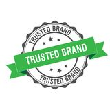 Trusted brand stamp illustration. Trusted brand stamp seal illustration design Royalty Free Stock Photos