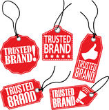 Trusted brand tag set, vector illustration Stock Photo
