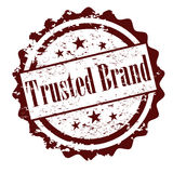 Trusted brand vector rubber stamp Stock Images
