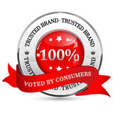 Trusted Brand. Voted by consumers Royalty Free Stock Photography