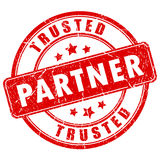 Trusted partner rubber stamp. Trusted partner rubber vector stamp stock illustration