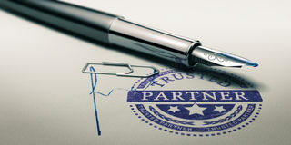 Trusted Partner, Service Background Stock Image