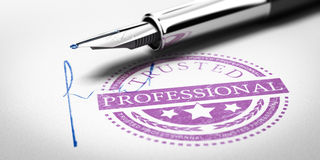 Trusted Professional Stamp Stock Photo