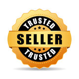 Trusted seller gold vector icon Royalty Free Stock Image